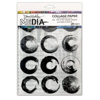 Ranger Ink - Dina Wakley Media - Collage Paper - 7.5 x 10 - Elements - 20 Pack