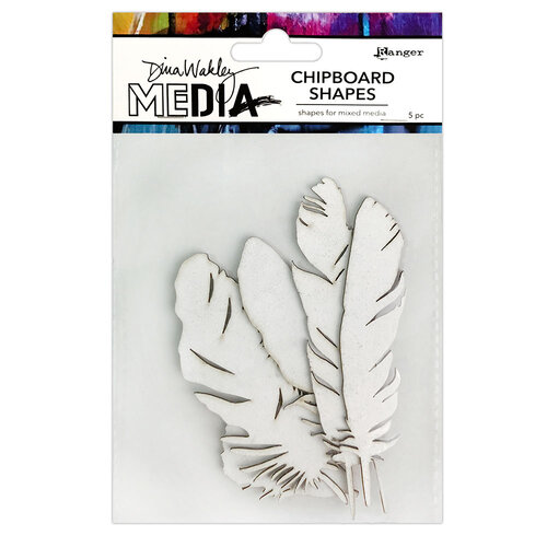 Ranger Ink - Dina Wakley Media - Chipboard Shapes - Feathers