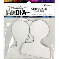 Ranger Ink - Dina Wakley Media - Chipboard Shapes - Passport Photos