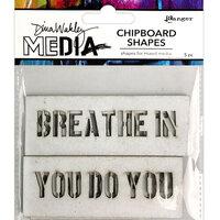 Ranger Ink - Dina Wakley Media - Chipboard Shapes - Speak Out