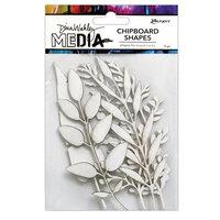 Ranger Ink - Dina Wakley Media - Chipboard Shapes - Sprigs