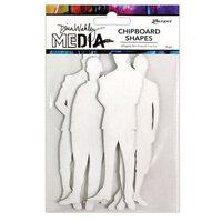 Ranger Ink - Dina Wakley Media - Chipboard Shapes - The Men