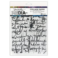 Ranger Ink - Dina Wakley Media - Collage Paper - 7.5 x 10 - Text Collage - 20 Pack