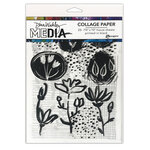 Ranger Ink - Dina Wakley Media - Collage Paper - 7.5 x 10 - Things That Grow - 20 Pack