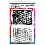 Ranger Ink - Dina Wakley Media - Unmounted Rubber Stamps - Scribbly Circle Backgrounds