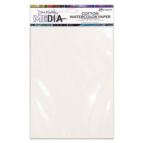 Ranger Ink - Dina Wakley Media - Cotton Watercolor Paper Pack - 10 Pack