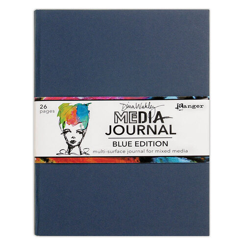 Ranger Ink - Dina Wakley Media - Media Journal - Blue Edition