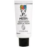 Ranger Ink - Dina Wakley Media - Heavy Body Acrylic Paint - Sterling