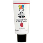 Ranger Ink - Dina Wakley Media - Heavy Body Acrylic Paint - Fuchsia