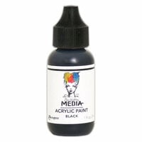 Ranger Ink - Dina Wakley Media - Heavy Body Acrylic Paint - Black - 1 Ounce