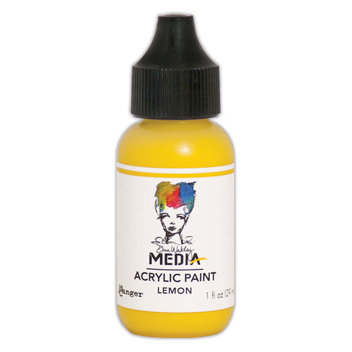 Ranger Ink - Dina Wakley Media - Heavy Body Acrylic Paint - Lemon