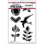 Ranger Ink - Dina Wakley Media - Unmounted Rubber Stamps - Woodcuts