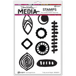 Ranger Ink - Dina Wakley Media - Unmounted Rubber Stamps - Funky Journal Shapes