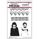 Ranger Ink - Dina Wakley Media - Unmounted Rubber Stamps - Gals And Borders