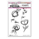 Ranger Ink - Dina Wakley Media - Unmounted Rubber Stamps - Abstract Blooms