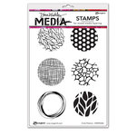 Ranger Ink - Dina Wakley Media - Unmounted Rubber Stamps - Circle Patterns