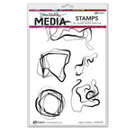 Ranger Ink - Dina Wakley Media - Unmounted Rubber Stamps - Organic Scribbles