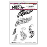 Ranger Ink - Dina Wakley Media - Unmounted Rubber Stamps - Sketched Layered Fronds