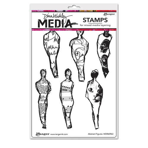 Ranger Ink - Dina Wakley Media - Mounted Rubber Stamps - Abstract Figures