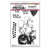 Ranger Ink - Dina Wakley Media - Mounted Rubber Stamps - Friends to the End