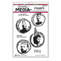 Ranger Ink - Dina Wakley Media - Mounted Rubber Stamps - Weird is Good