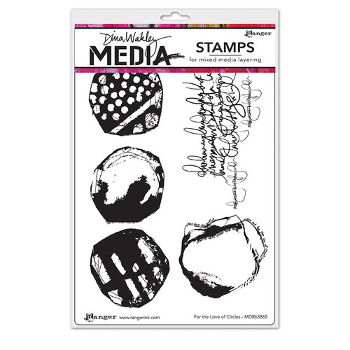 Ranger Ink - Dina Wakley Media - Unmounted Rubber Stamps - For the Love of Circles