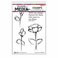 Ranger Ink - Dina Wakley Media - Unmounted Rubber Stamps - Always Flowers