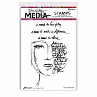 Ranger Ink - Dina Wakley Media - Unmounted Rubber Stamps - I Want