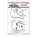 Ranger Ink - Dina Wakley Media - Unmounted Rubber Stamps - Lovely Women