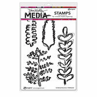 Ranger Ink - Dina Wakley Media - Unmounted Rubber Stamps - Scribbled Branches
