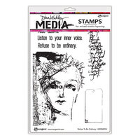 Ranger Ink - Dina Wakley Media - Unmounted Rubber Stamps - Refuse To Be Ordinary