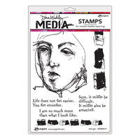 Ranger Ink - Dina Wakley Media - Unmounted Rubber Stamps - Stronger