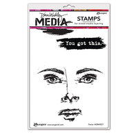 Ranger Ink - Dina Wakley Media - Cling Mounted Rubber Stamps - Fierce