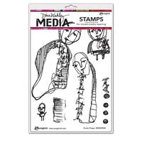 Ranger Ink - Dina Wakley Media - Cling Mounted Rubber Stamps - Funny Peeps
