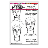 Ranger Ink - Dina Wakley Media - Cling Mounted Rubber Stamps - Strong Men