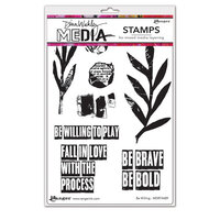 Ranger Ink - Dina Wakley Media - Cling Mounted Rubber Stamps - Be Willing