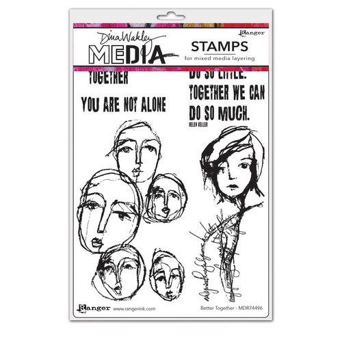 Ranger Ink - Dina Wakley Media - Cling Mounted Rubber Stamps - Better Together