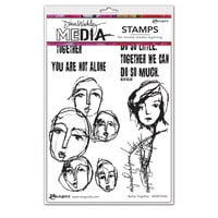 Ranger Ink - Dina Wakley Media - Cling Mounted Rubber Stamps - Better Together