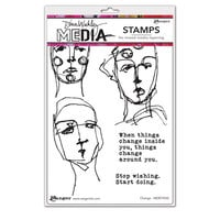 Ranger Ink - Dina Wakley Media - Cling Mounted Rubber Stamps - Change