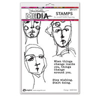 Ranger Ink - Dina Wakley Media - Cling Mounted Rubber Stamps - Change