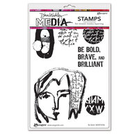 Ranger Ink - Dina Wakley Media - Cling Mounted Rubber Stamps - Be Bold