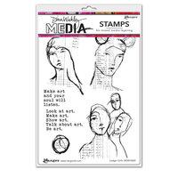 Ranger Ink - Dina Wakley Media - Cling Mounted Rubber Stamps - Ledger Girls