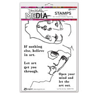 Ranger Ink - Dina Wakley Media - Cling Mounted Rubber Stamps - Let The Art Out