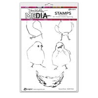Ranger Ink - Dina Wakley Media - Cling Mounted Rubber Stamps - Nested Birds