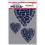 Ranger Ink - Dina Wakley Media - Stencils - Pebble Heart