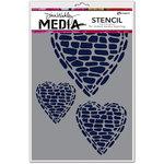 Ranger Ink - Dina Wakley Media - Stencils - Pebble Heart