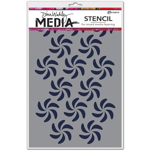 Ranger Ink - Dina Wakley Media - Stencils - Bendy Pinwheels
