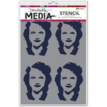 Ranger Ink - Dina Wakley Media - Stencils - Four Women