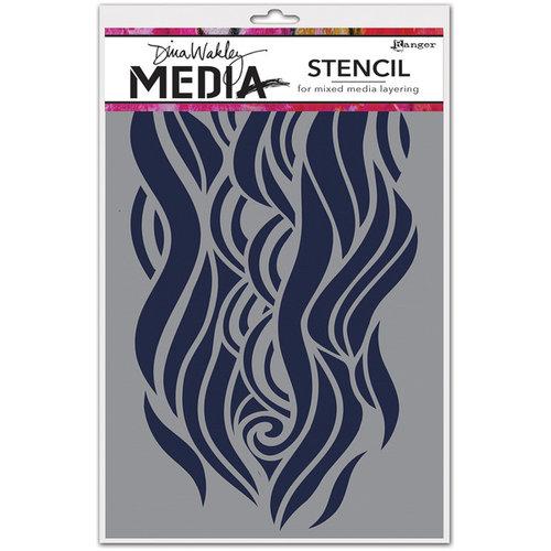 Ranger Ink - Dina Wakley Media - Stencils - Mighty Wave