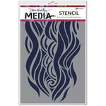 Ranger Ink - Dina Wakley Media - Stencils - Mighty Wave